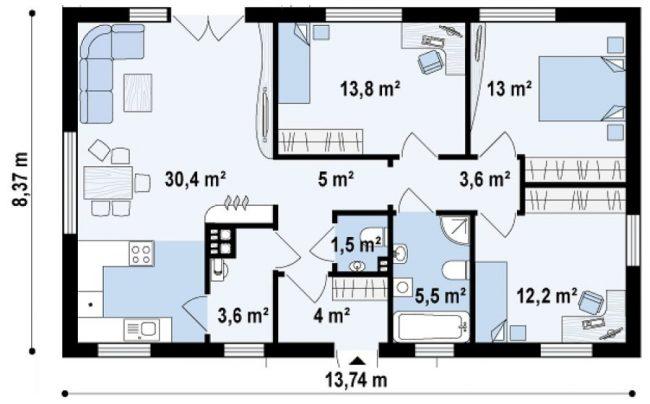proiect casa cu doua bai 02